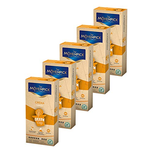 MÖVENPICK CREMA LUNGO Kaffeekapseln 5 x 10 Kapseln Sparset
