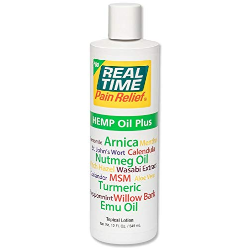 Real Time Pain Relief Hemp Oil Plus (12 Ounce)