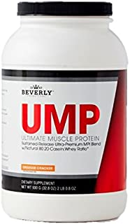 Beverly International UMP Protein Powder 30 servings, Graham Cracker. Unique whey-casein ratio builds lean muscle and burns fat for hours. Easy to digest. No bloat. NET WT 32.8 oz