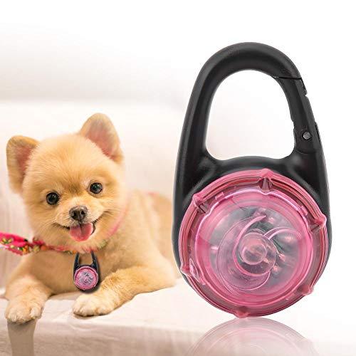 Haustierhalsband Anhänger, Hundehalsband Anhänger, 2,2 x 1,4 x 1 Zoll 6 V für Katze, Haustier, Indoor-Spiel, Haustier, Outdoor-Spiel für Hund(Pink)
