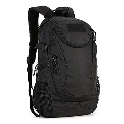 Huntvp 25L Tactical Backpack Rucksack WR Tactical Assault Pack Military Bag (Black)