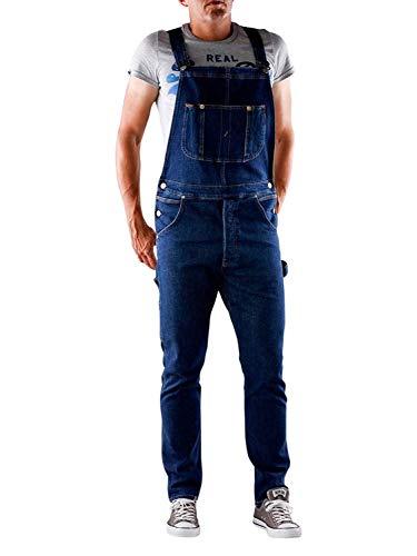 Lee Herren Rider Latzhosen Jeans-Latzhose L72ZRDJL - Dunkles Indigoblau Blau - Blau, X-Small