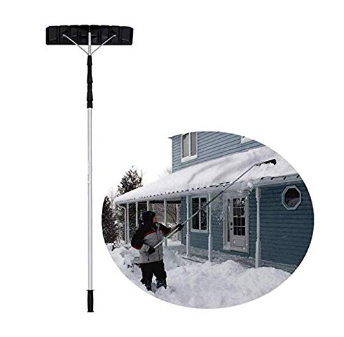 Buy Bargain Snow Roof Rake Tool 6.4M Adjustable Handle Aluminum Alloy Structure Roof Snow Removal Id...