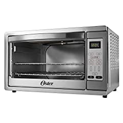 Countertop convection oven features convection technology for fast, even heating Digital settings for pizza, bake, broil, toast, and defrost Large interior fits 2 take and bake pizzas, a family sized chicken, or 18 slices of bread Easy clean interior...