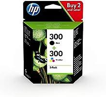 HP 300 CN637EE, Pack de 2, Cartuchos de Tinta Originales Negro y Tricolor, compatible con impresoras de inyección de...