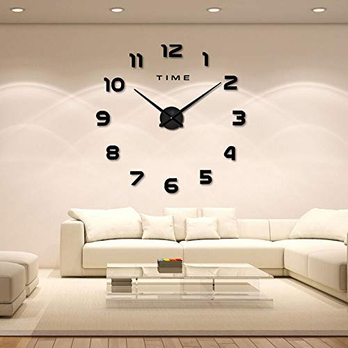 DIY Wanduhr 3D Moderne Wanduhren Acryl Spiegel Metall Bürouhr Wohnzimmer Schlafzimmer Geschenk Home Decor