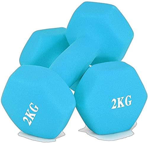 Educación Scrub Dip Dumbel Pareja 2kg Pesavas Pesas Fitness Equipos para el Ejercicio Fitness Brazo Delgado Cuerpo de Escultura Ejercicio (Color: Verde)-Azul