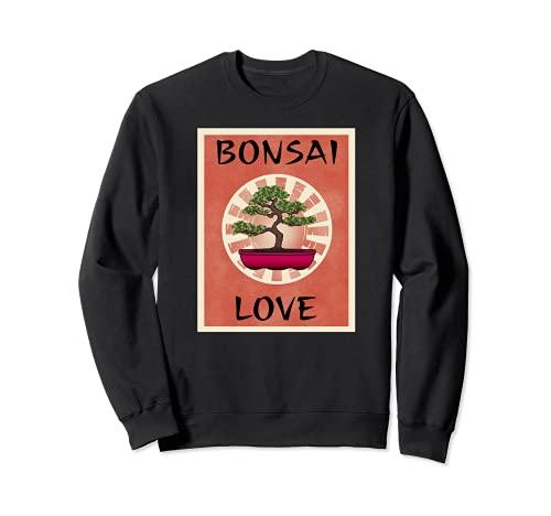 BONSAI LOVE - Ventilador para árbol en miniatura, diseño de árbol Sudadera