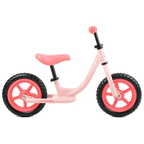 Retrospec Cub Kids Balance Bike No Pedal Bicycle , Blush Pink