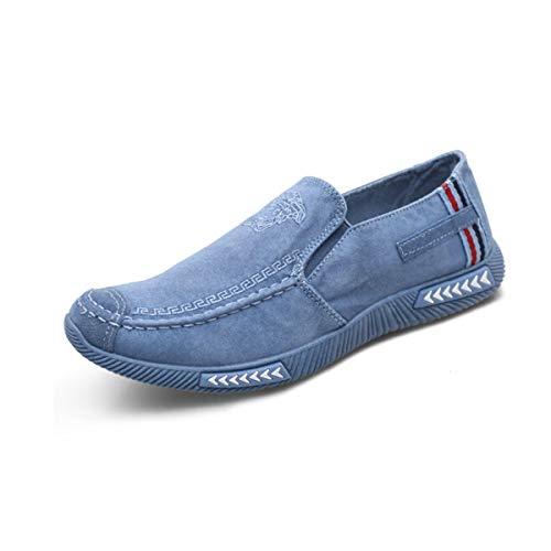 HUIJUNWENTI Segeltuchschuhe, EIN Fuß alte Peking-Tuchschuhe, Faule Schuhe, Breathable und desodorierende beiläufige Schuhe, tägliche weiche untere Arbeitsschuhe, bequem und atmungsaktiv