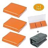 Aimocar Barra di Argilla per Auto, 3 Confezione 100 g Auto Pulizia Clay Bar Kit di Dettagli con valigette Forniture con capacità di Lavaggio e adsorbimento per la Pulizia di Auto con Asciugamano