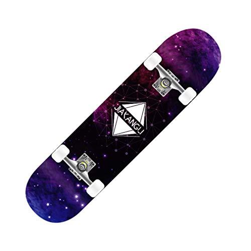 """Patinetas Tabla de Skate Completa de 31""""x 8"""", Tabla de Madera de Arce prefabricada para Adultos jóvenes Principiantes niños niños niñas más de 110 cm de Altura, Carga máxima 150 kg"""