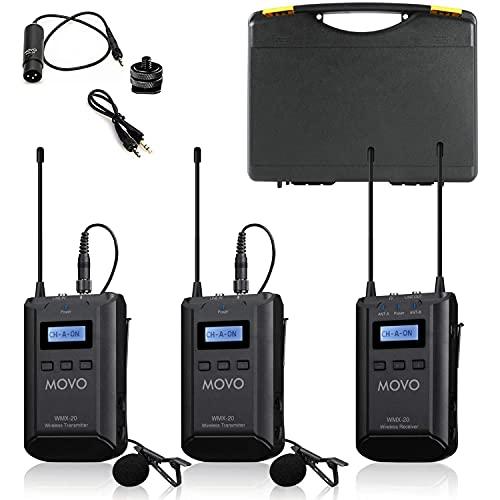 Movo WMX-20-DUO 48-Channel UHF Wireless Lavalier...