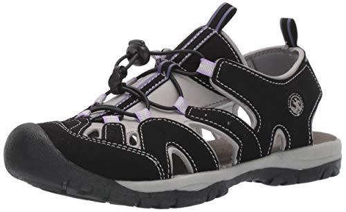 Northside Women's Burke II Sandal,Black/Lilac,9 M US