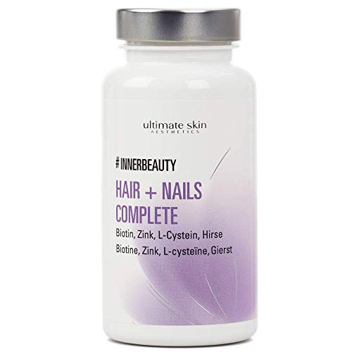 #INNERBEAUTY Hair + Nails Complete – Für starke Fingernägel & schöne Haare – Veganes Nahrungsergänzungsmittel – 90 Kapseln