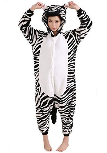 Zebra Pyjamas Bekleidung Animal Erwachsene Unisex Schlafanzüge Karneval Onesies Cosplay Jumpsuits Anime Carnival Spielanzug Kostüme Weihnachten Halloween Nachtwäsche Herren