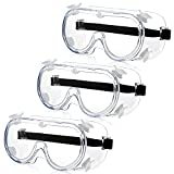 Aronlior occhiali di sicurezza antiappannamento, trasparenti occhiali di protezione medica...