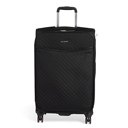 Vera Bradley Women's 27' Softside Rolling Suitcase Luggage, Classic Black, One Size