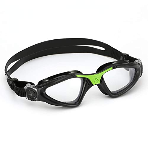Aqua Sphere Kayenne - Gafas de natación para hombre, color negro/verde claro