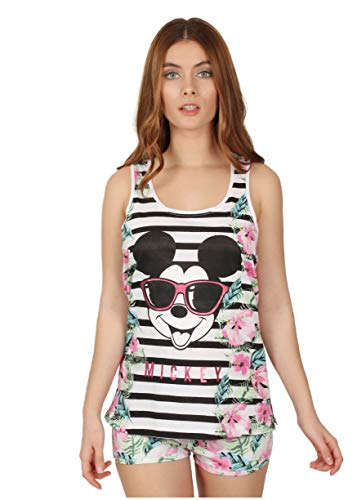 Disney Pijama Tirantes Mickey Jungle para Mujer, Color Multicolor, Talla L