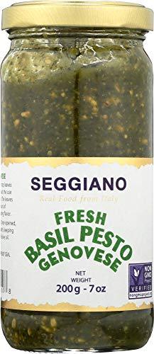 Seggiano Fresh Basil Pesto, Raw Basil Pesto Genovese - 7 Oz   Pack of 6