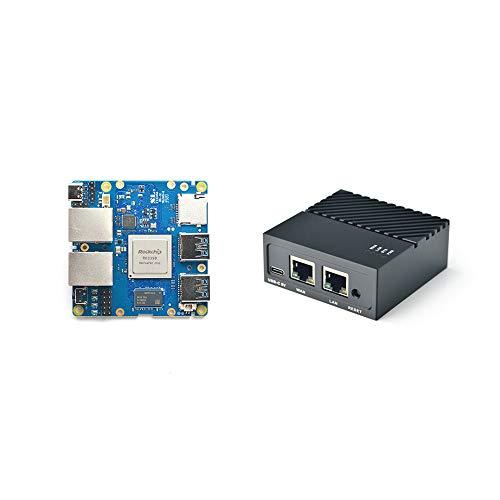Nanopi R4S Mini router da viaggio portatile OpenWRT con porte Ethernet a doppio Gbps LPDDR4 da 4 GB basato su Rockchip RK3399 Soc per IOT NAS Smart Home Gateway