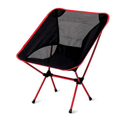 Sedia Da Campeggio Smontabile Sedia A Sdraio Pieghevole Capacità 150 Kg Con Sacca Da Viaggio Per Backpacking/Trekking/Picnic/Pesca/Spiaggia/Giardino (Rosso)