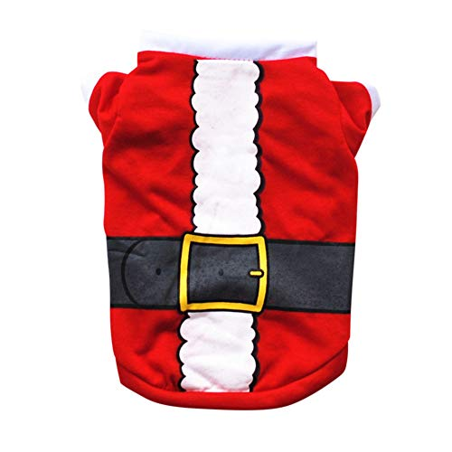 Gyratedream Huisdier Kerst Verzorging Accessoires, Groene Taille Riem Katoen T-shirt Festival Kostuum Voor Kleine Medium Honden Hond Mode Outfit Sweatshirt, M, Kleur: wit