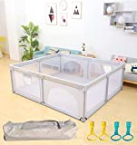 RDHOME Baby Playpen Portable Kids Playyard with Gate, Indoor & Outdoor Child Activity Center, Sturdy Indoor Safety Play Fence Large Play Area for Toddlers,Infants,Children