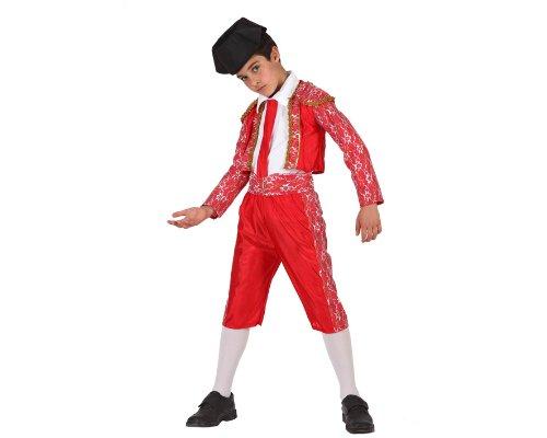 Atosa-69136 Disfraz Torero, color rojo, 7 A 9 Años (69136