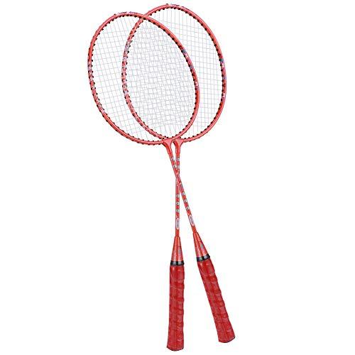 Keenso Kinder Badminton Schläger, süßes Design, Training Badminton Schläger, leicht, für Kinder zum täglichen Sport, einschließlich Premium Badminton Tasche(Orange)