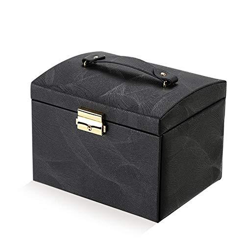 YHDNCG Caja de joyería,Caja de joyería de gran capacidad,Organizador de pendientes de anillo de cuero PU,Caja de regalo de exhibición de embalaje de