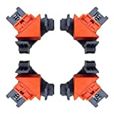 90 Degree Angle Clamps,Clamps for Woodworking, Set of 4 Multifunction Angle Clamp Corner Clip Fixer for Wood-Working, Engineering, Photo Frame DIY Han