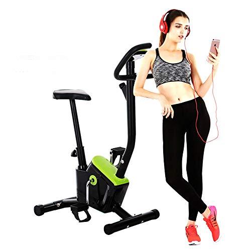 Liergou Tragbares faltendes spinnendes Fahrrad und elliptischer Cross Trainer mit Fitness Cardio Weightloss Workout Machine (Farbe : Grün)