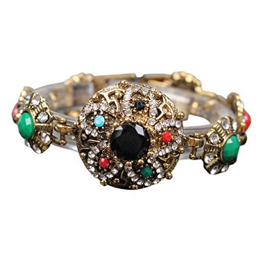 Yazilind Blume Form Farbe Edelstein Armband Mode Exquisite Schnalle Armreif Armbänder Frauen Mädchen Geburtstag Schmuck Geschenk