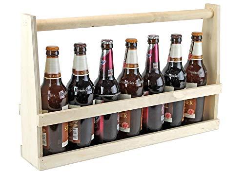 UTI GmbH Bierträger für 7 Flaschen - Flaschenträger - 1/2 Meter Bier - Männerhandtasche - Getränkekorb - Bier