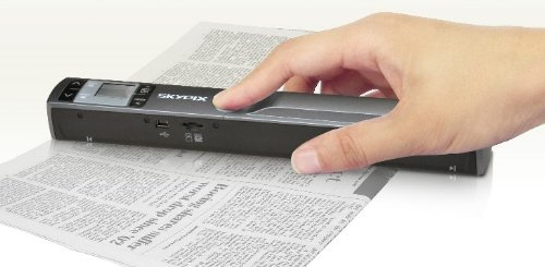 : WiFi Transmission Function, Cordless Handheld Scanner 900 DPI Resolution Skypix TSN44W - Easy to instantly scan and digitize anything, portable scanner : Document Scanners