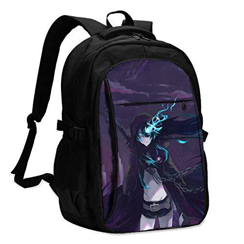 Bla Ro Shooter Klassische Ba Pa School College-Tasche Laptop-Schultasche mit USB-Anschluss Hören von Songs und Aufladen