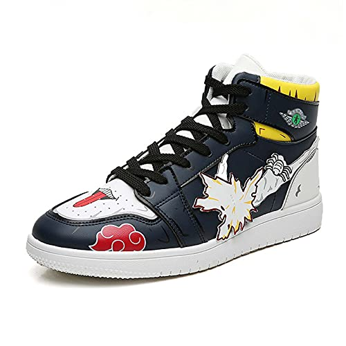 Zapatillas de Deporte para Hombre Naruto Anime Uzumaki Naruto Zapatillas Informales con Cordones Zapatillas de Baloncesto de Moda Zapatos Casuales para Caminar tamaño 38-44