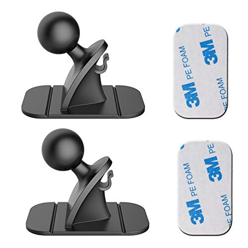 Yianerm Universal 17mm Kugelkopf 3M Aufkleber Basis Zubehör, die ist geeignet für die meisten Autotelefonhalter auf dem Markt (Schwarz)