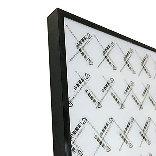 EU-NING Marco de fotos metal cartel marco clásico aleación de aluminio marco colgante de pared A3 A4 30X30 certificado marco-negro Marco, 30X40cm