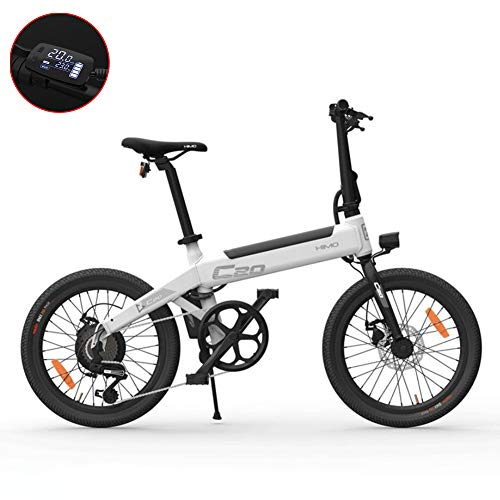 GUOJIN Bicicleta Eléctrica Plegables, Bicicleta de Aleación de Aluminio de 240 W, Batería Extraíble de Iones de Litio De 36 V/10 Ah, Cambio Shimano de 6 Velocidades, con Freno de Disco