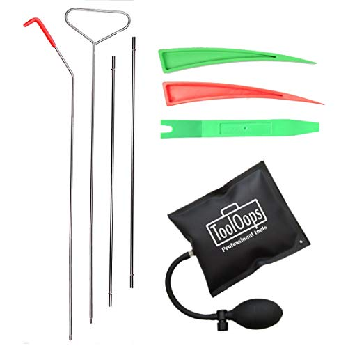Professional Automotive Car Tool Kit for Car and Truck Emergency and Easy Entry. Included Air Pump Set, Long Reach Grabber and Pry Tool for Radio