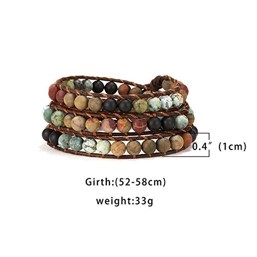 ASIG Wrap Armband voor Vrouwen Stone Bohemian Handgemaakte Multilayer Kralen Lederen Sieraden Vrouw