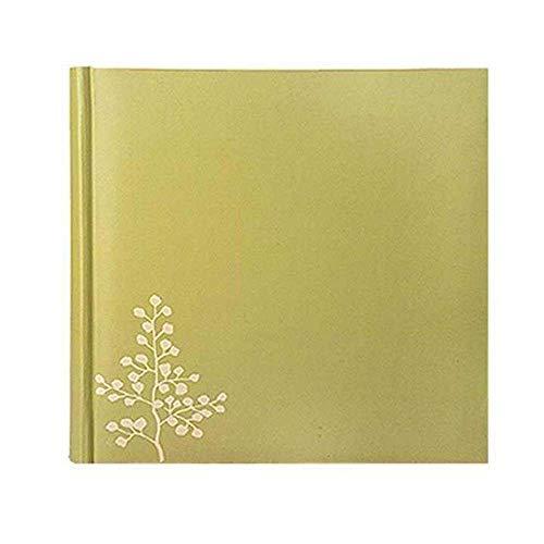 Mobiliario de renovación del hogar Cubierta de álbum verde de PU 200 fotografías (Tamaño de la foto: 15,2 CM por 10,2 CM (4R)) puede escribir un mensaje Álbumes de fotos de cuaderno hecho a mano de