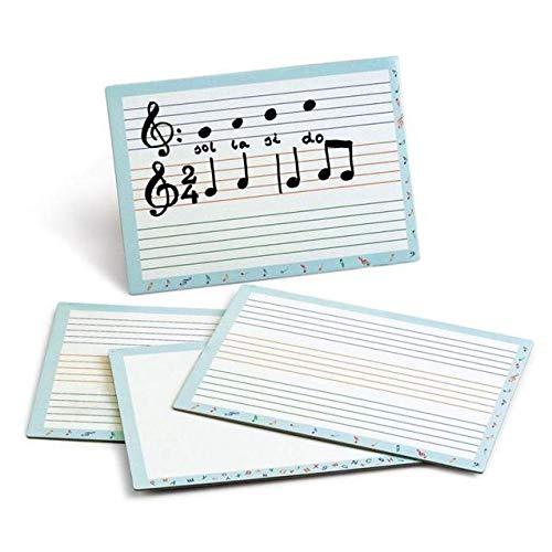 Pizarra Blanca y Pentagramas para Educacion Musical 21 x 30 cm.