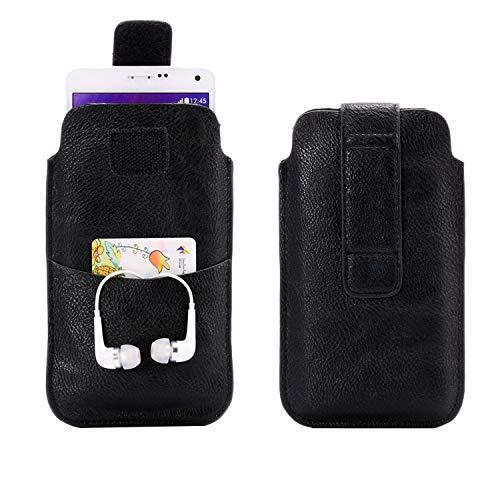 Funda para cinturón de teléfono celular Samsung Galaxy S21 5G, A50s, A20, A10, A10s, A50, A31, Note 9, 8, funda de piel con soporte para tarjeta de crédito