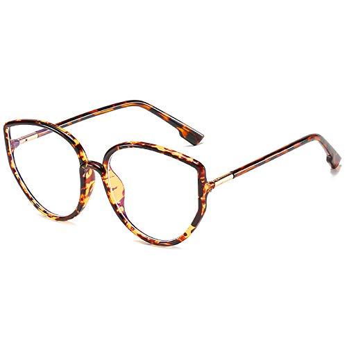Gafas de Bloqueo de luz Azul Gafas para Juegos de computadora TR Montura de anteojos Trend Big Frame Gafas Lectura Anti-Fatiga Visual para Mujeres y Hombres,B