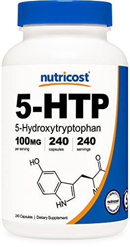 Nutricost 5-HTP 100mg, 240 Capsules (5-Hydroxytryptophan) - Vegetarian...