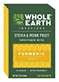 Whole Earth Sweetener Co. Infusions with Turmeric Plant-Based Sweetener, Zero Sugar Substitute, 60 Packets